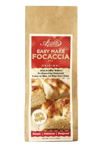 Original Focaccia At The Table Together