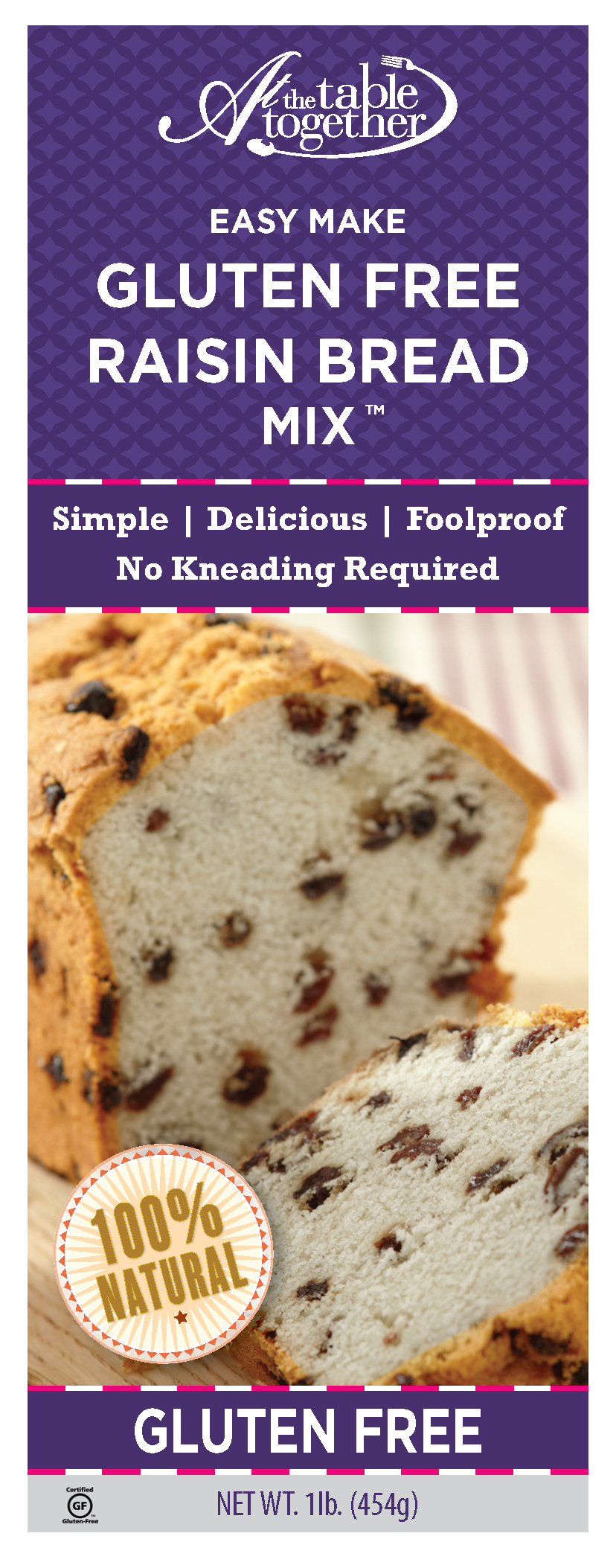Gluten Free Raisin Bread Mix - At The Table Together