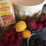 Gluten Free Lemon Cake Mix with Fresh Lemon and Berries