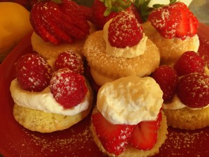 Gluten Free Lemon Shortcake with Berries and Cream